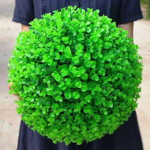 26-36cm-Faux-Plastique-Vert-Herbe-Balle-Topiaire-pendant-Plante-Artificiel-Deco