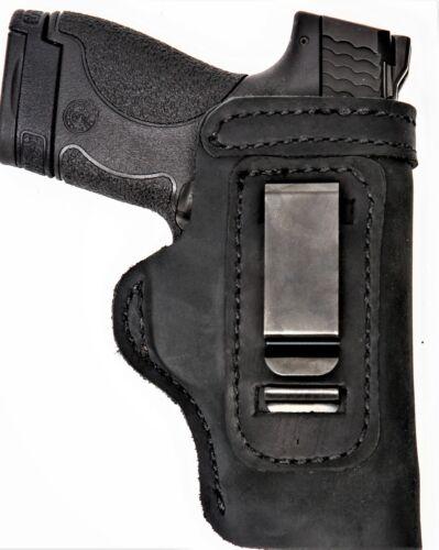 Pro Carry LT RH LH OWB IWB Leather Gun Holster For S/&W Bodyguard 380 w// CT Laser