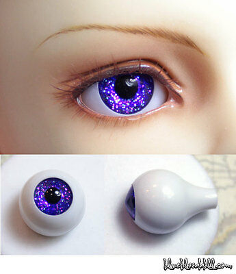 1//3 1//4 bjd 18mm acrylic doll eyes purple full eyeball dollfie AE-59 ship US