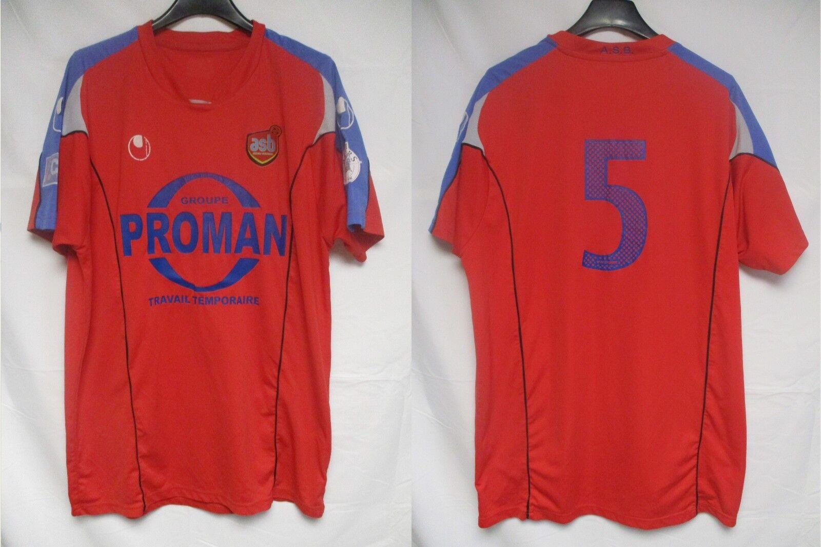 Maillot A.S BEZIERS porté n°5 Uhlsport vintage CFA footbtutti shirt collection L