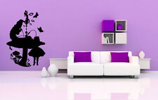 Wall Vinyl Sticker Room Decals Mural Design Alice In Wonderland Cartoon bo1685