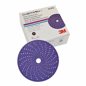 3M Cubitron II Clean Sanding Hookit Disc, 6 inch, 120+ Grit, 31372 50 Per box