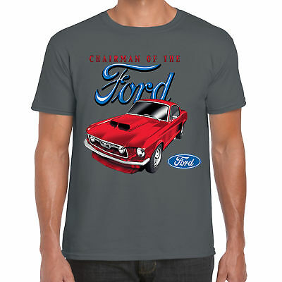 FORD Mustang T shirt con licenza Genuine Parts classico americano V8 Muscle Car