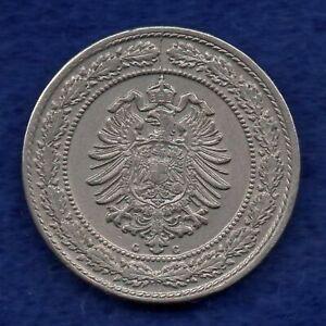 Allemagne, 1888 G 20 Pfennig, Nice Grade & Rare (ref. C7208)-afficher Le Titre D'origine