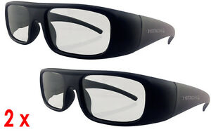 BRAND PAIR OF HITACHI POLARISED PASSIVE 3D TV GLASSES HG-006 DELIVERY