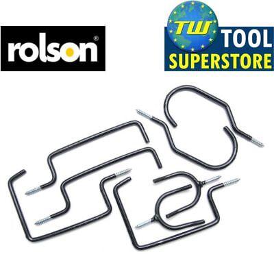 Rolson 8pc Storage Hanging Hanger Hook Set For Garden Shed Garage Bike Hooks