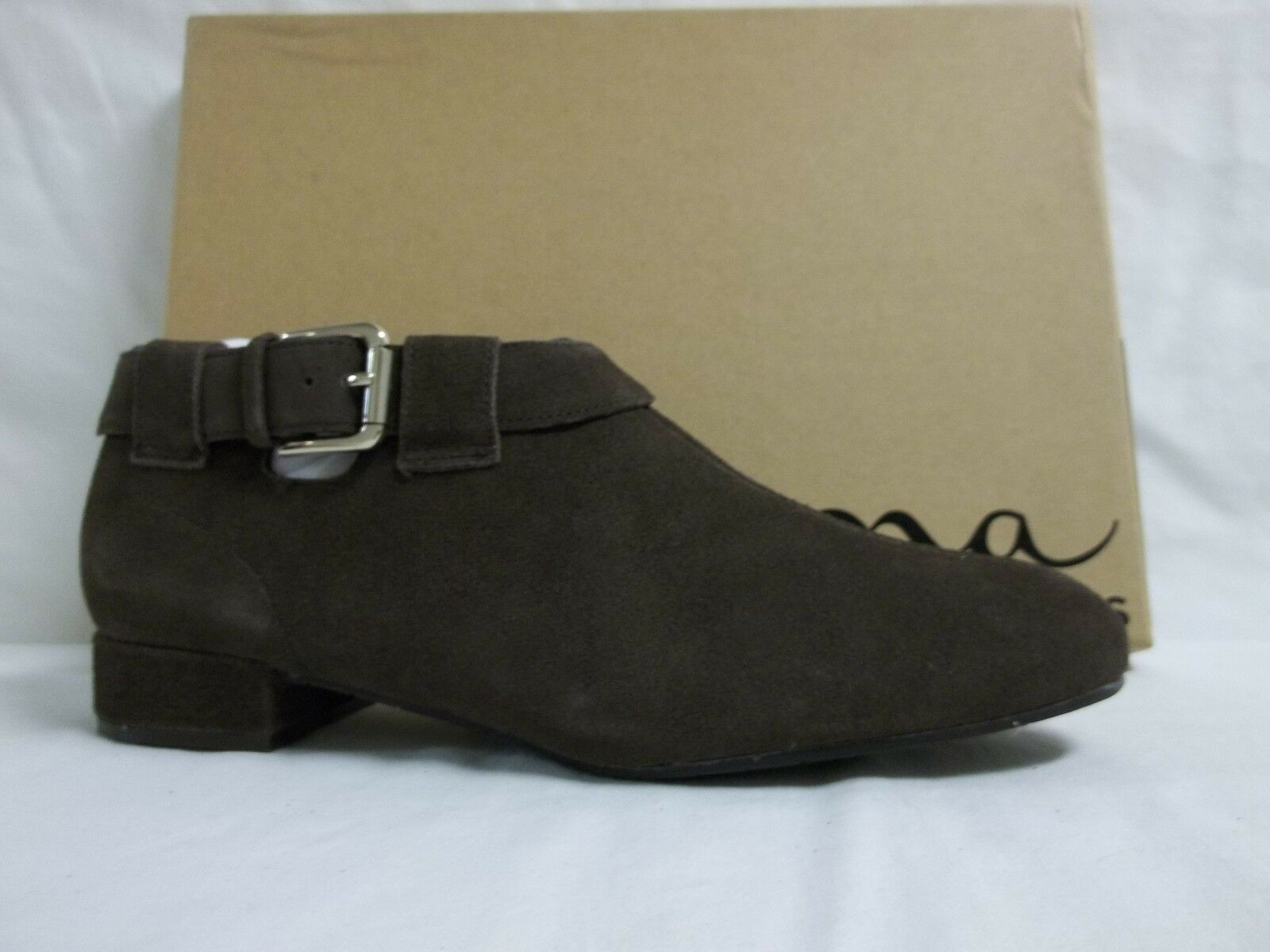 Nina Size 6 M Drena Coffee Leather Ankle Boots New Donna Shoes