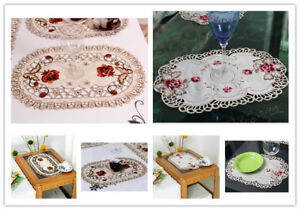 Oval-Embroidered-Lace-Floral-Dining-Table-Placemat-Valentines-Day-Decor-12-034-X17-034