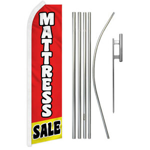 16/' TALL SWOOPER FLAG POLE GROUND SPIKE Advertising Feather Flutter Bow Banner