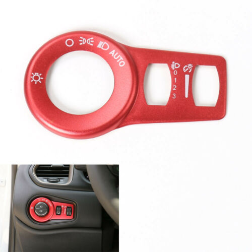 Aluminum Red Fog Headlight Button Switch Trim For JEEP Renegade 2015 2016 2017