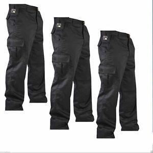 """AgréAble Pull Homme Cargo Armée Combat Travail Pantalon 32"""" - 48"""" Avec Jambe 32"""" Taille Noir-afficher Le Titre D'origine Demande DéPassant L'Offre"""