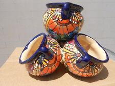 TALAVERA southwest PLANTER pot Mexican clay folk art pottery southwest red