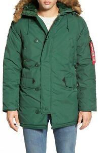 Alpha Industries Men's Heavy-weight Altitude Parka, Forest Green ...
