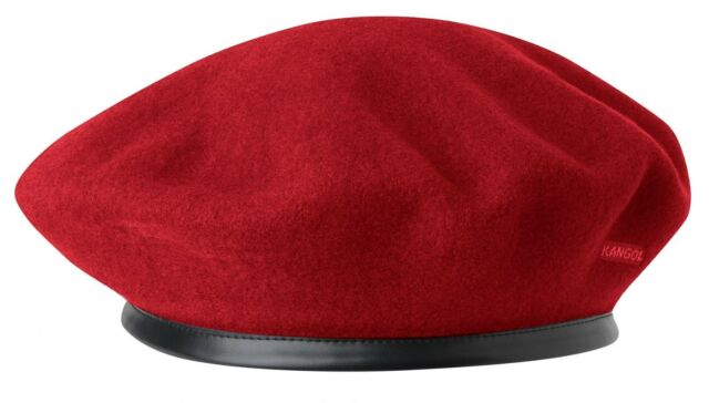 Red Kangol Wool Monty Beret Cap Style 0248HT S  995d658318ea