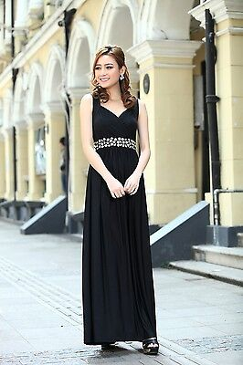 Long Maternity Bridesmaid Wedding Party Evening Maxi Dress Gown incl plus sizes