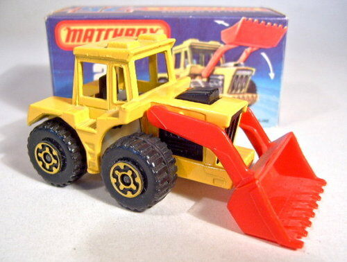Matchbox SF nº 29c tractor Shovel amarillo BPL. beige como nuevo en Box