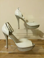 ALDO Ladies Cream & Taupe Platform Peep Toe Heels UK 8 EU 41 ONLY £30 Brand New