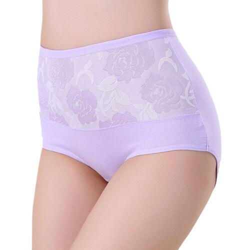 Damen Damen-slips Hohe Taille Unterhose Baumwollslip Damen-unterwäsche Übergröße