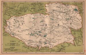 Lhasa China Map.Tibet Koko Nor Tibet Qinghai China Province Map Lhasa