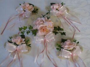 Tischdeko Set Rosa Creme 5 Teilig Herz Hochzeit Geburtstag