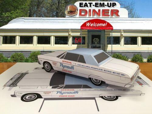 Papercraft 1965 Plymouth Sport Fury pace car top up convert  EZU-make Paper Car