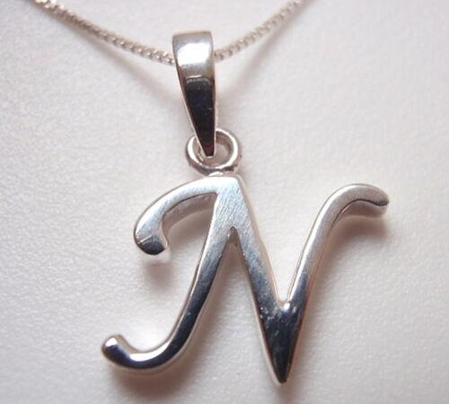 "The Letter /""N/"" Pendant 925 Sterling Silver Corona Sun Jewelry n"