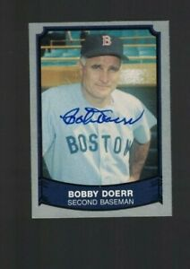 Bobby Doerr Boston Red Sox Signed 1989 Pacific Baseball Card W/Our COA
