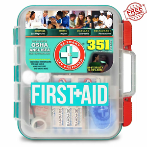 NEW 351 pc Emergency First Aid Kit Workplace