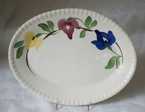 Blue-Ridge-Platter-Vintage-Carnival-White-with-Flowers-Southern-Potteries
