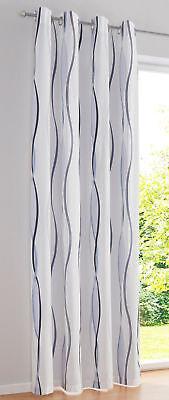 """Gr.4 Vorhang /""""Verona/"""" Ösen 1er-Pack weiß silber NEU H//B: 245//135 cm"""