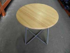 Details About New Tesco Side End Lamp Coffee Table Wooden Top Grey Legs Rp 43