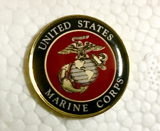 "USMC Lapel Pin United States Marine Corps 1"" w/ locking clutch MADE IN USA"