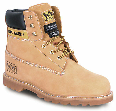SAFETY BOOTS STEEL TOE MIDSOLE wood world desert WATER resistant GOODYEAR WELTED