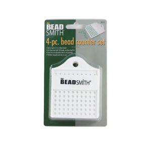 Beadsmith® Perlen Zähler Satz 4 Stücke Tabletts Für 3, 4, 6 & 8mm Perlen