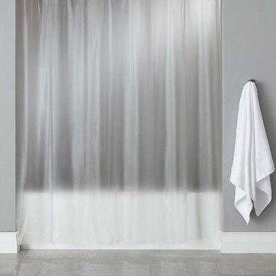 Croydex PVC Frosty Clear Bathroom Shower Bath Curtain Plastic Plain 180 x 180cm