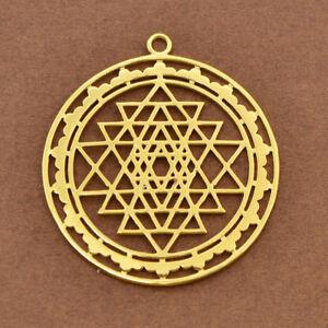 Sri yantra pendant sacred geometry amulet meditation necklace image is loading sri yantra pendant sacred geometry amulet meditation necklace aloadofball Image collections