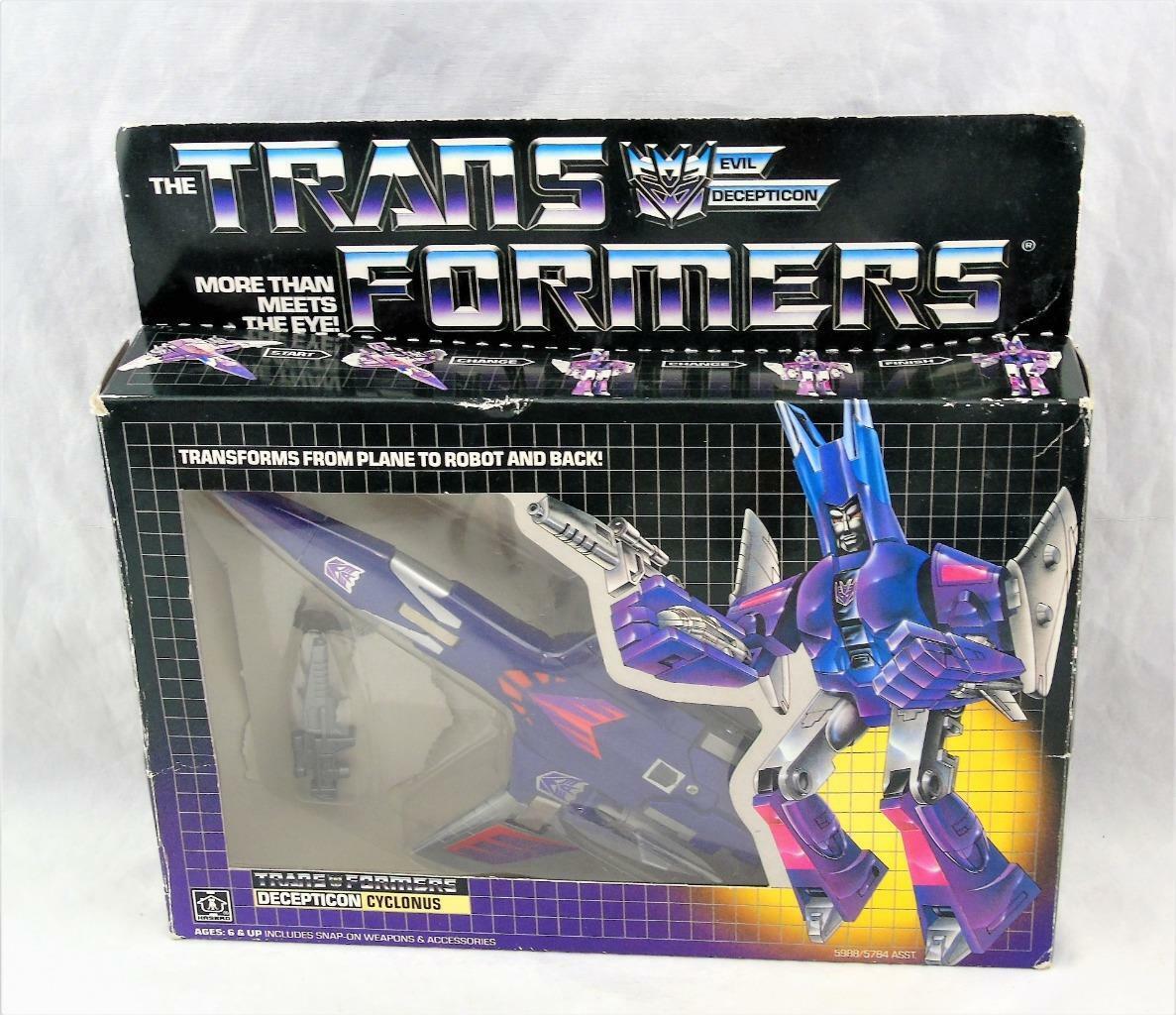 Transformers Original G1 1986 1986 1986 Cyclonus Complete w  Box and Bubble Nice Figure a43f25