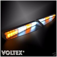 NEW VOLTEX® AMBER CLEAR VISOR SPLIT DECK 1W DASH LED LIGHTBAR STROBE LIGHT KIT