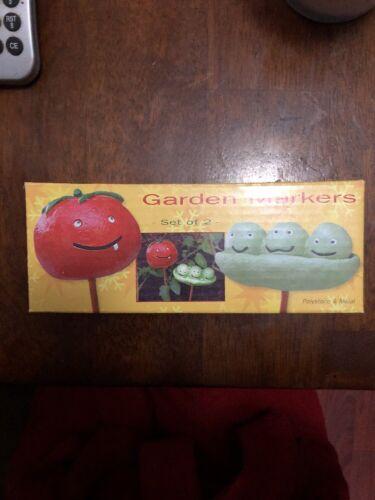 Tomato /& Peas Garden Markers Set Of 2
