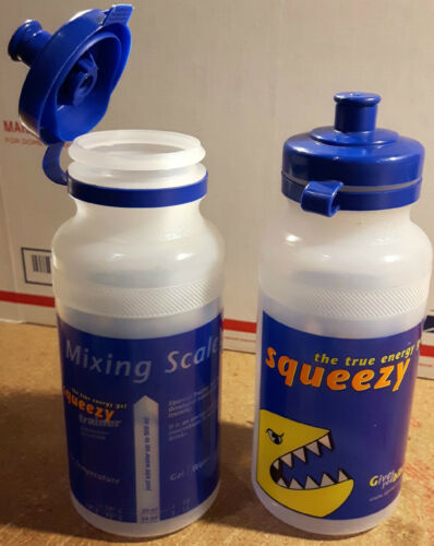 Squeezy Gel Mixing water bottle 20oz food grade 500ml bike measuring level