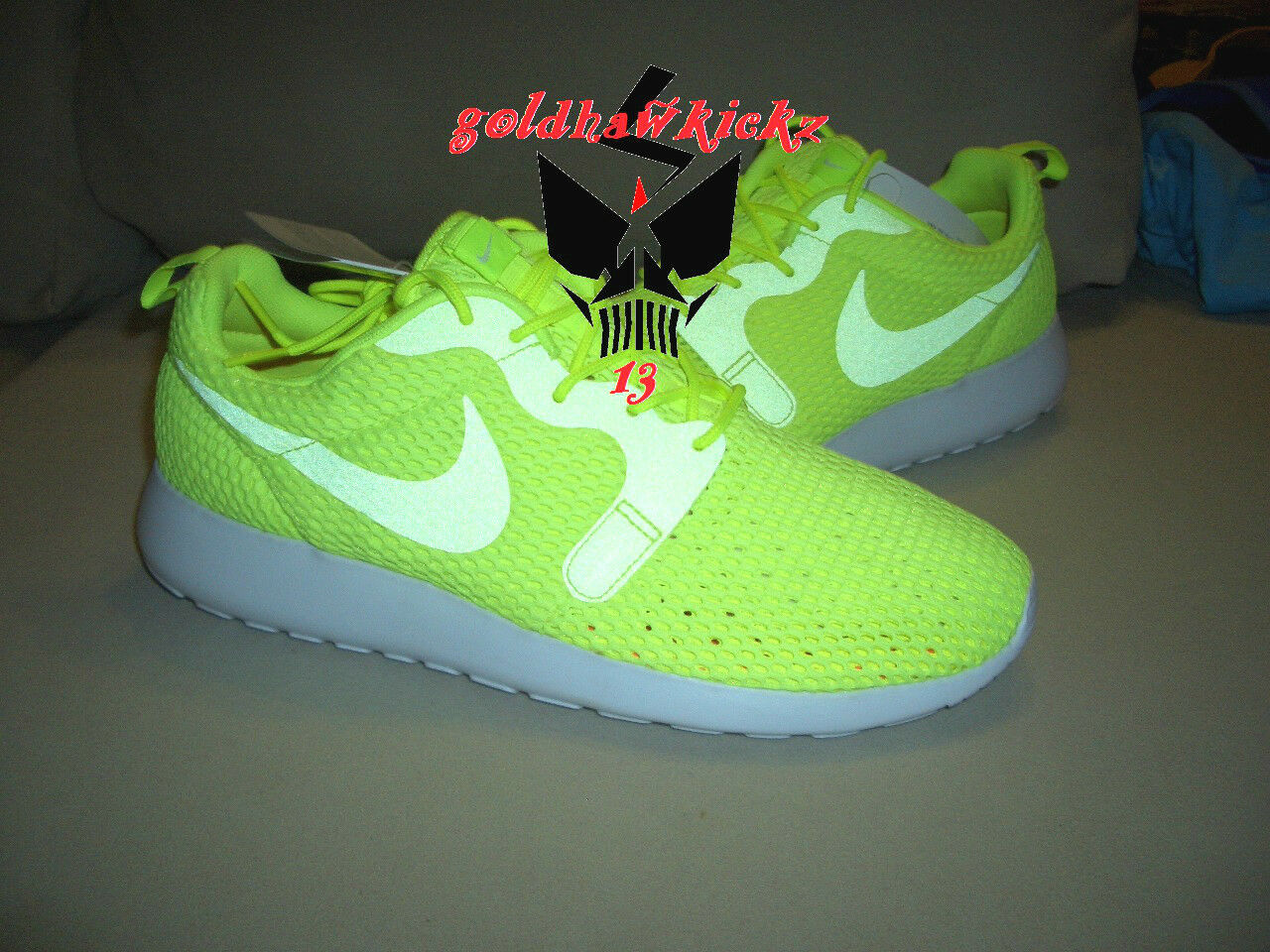 Nike Roshe One Hyp BR Breathe Hyperfuse 833125 700 volt 3M men running shoes