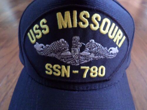 USS MISSOURI SSN 780 NAVY SUBMARINE HAT U.S MILITARY OFFICIAL BALL CAP USA MADE