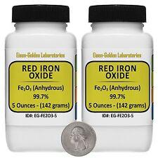 Red Iron Oxide Fe2o3 997 Acs Grade Powder 10 Oz In Two Easy Pour Bottles Usa