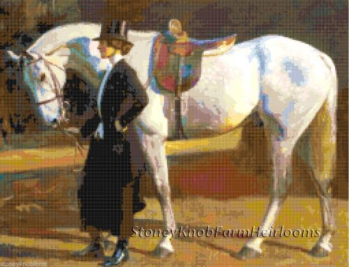 Victorian ~ DIY Counted Cross Stitch Pattern My Horse My Friend ~ Horses