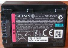 Original Sony NP-FV70 Li-Ion Batería Original FV100 FV70 FV50 SR21 SR68 SX65 SX45