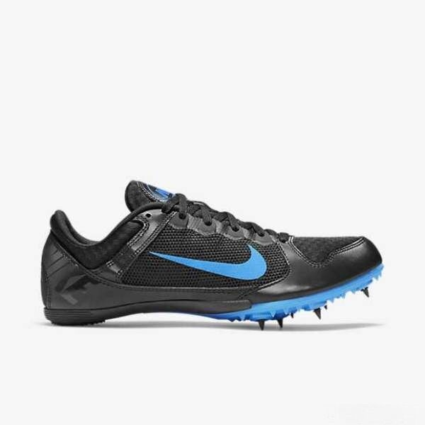 Nike Men's Zoom Rival MD 7 Track Shoes 616312 004 Black Photo Blue