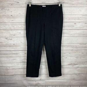 J. Jill Women's Slim Straight Leg Ankle Pants Size 8 Black Cotton Blend
