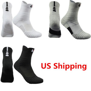 6aa6aa28223 5 Pack Elite Basketball Socks Dri-Fit Athletic Crew Sport Middle ...