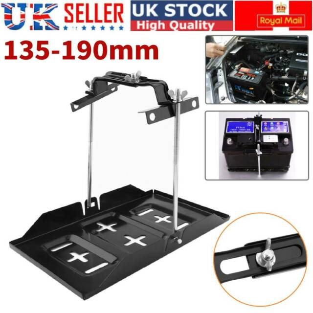 Universal Car Leisure Battery Tray Adjustable Hold Down Clamp Kit 135-190mm