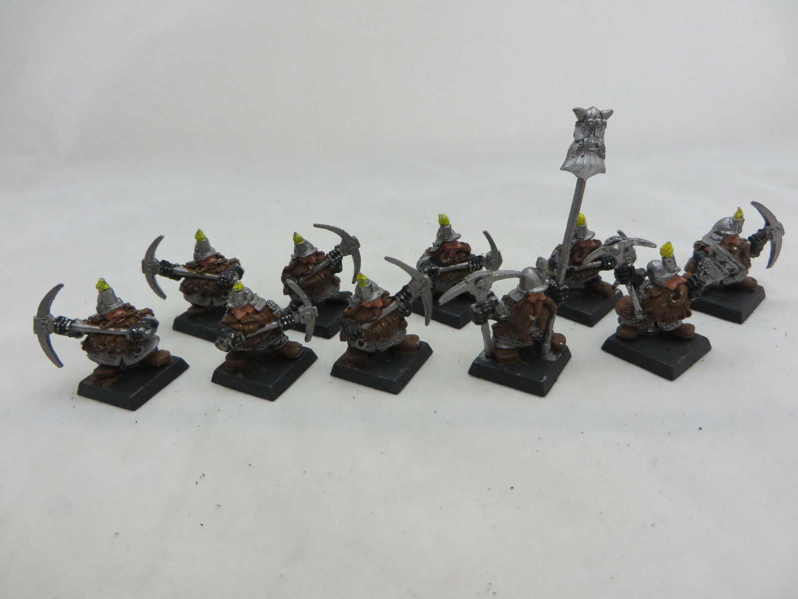 Warhammer Dwarf Miners army lot metal oop AOS dispossessed